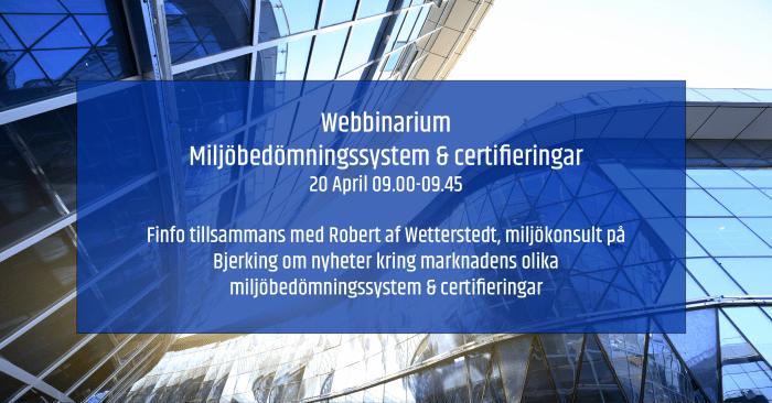 Miljöbedömningssystem & certifieringar